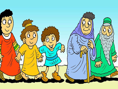 But God's presence in the cloud only moved as fast as the old people and the little children could walk. – Slide 6