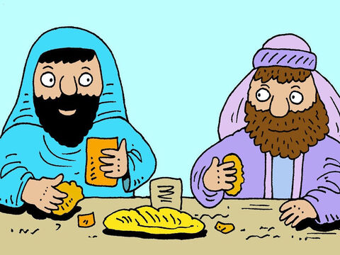 One day Jesus was invited to have a meal at the home of an important Pharisee. Lots of rich people were there, watching Jesus and listening to Him. He told this story to the Pharisee. – Slide 2