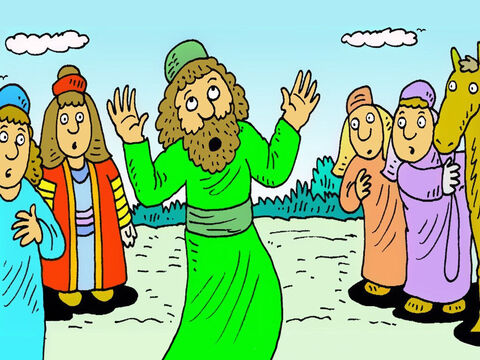 When the light had gone, Saul couldn't see anything. The people with him didn't know what had happened. – Slide 6