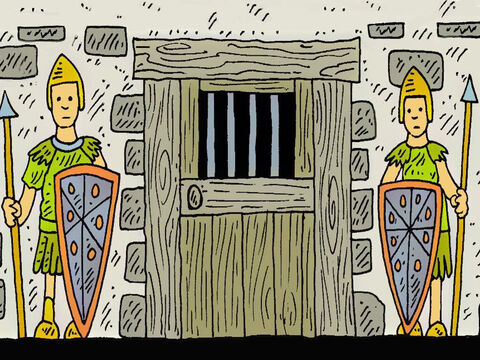 A long time ago, it was the rule that no one could talk about Jesus, or they would be put into jail. – Slide 1