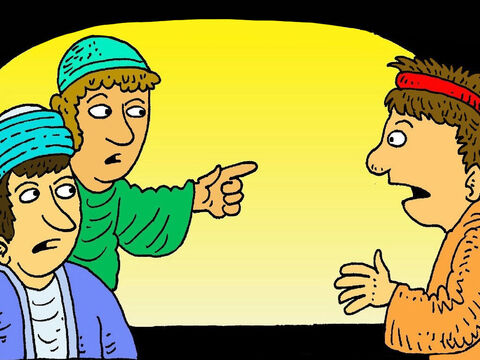 More people said, 'You are one of Jesus followers. You talk exactly like Him.' <br/>'I tell you that I don't even know him,' said Peter.  Then he heard a rooster crow. – Slide 6