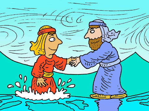 Jesus reached out his hand and caught Peter. Even though the wind blew and the waves crashed around him, while he kept looking at Jesus, Peter was safe. – Slide 6
