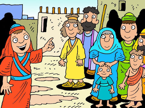 Philip, and some of Jesus' disciples, were telling people in the small towns of Samaria about Jesus Christ, God's son, and many people believed the good news. – Slide 2