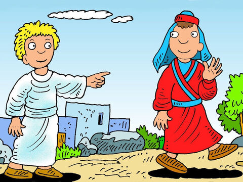 Then God sent an angel to tell Philip, 'Go this way into the desert. God has something for you to do.' Phillip listened and obeyed. – Slide 3