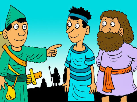 It was time to go into the new land God had promised to the children of Israel. Joshua sent two men to spy out the city of Jericho to find out how strong their army was. – Slide 2