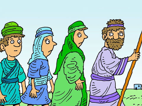 There was a famine in Israel and the food was all gone, Elimelech took his wife Naomi and their two sons, Mahlon and Chilion, to live in the country of Moab. – Slide 2