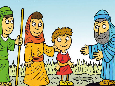 Hannah had prayed and asked God for a baby. She promised to give Samuel to God when was he was big enough. – Slide 1