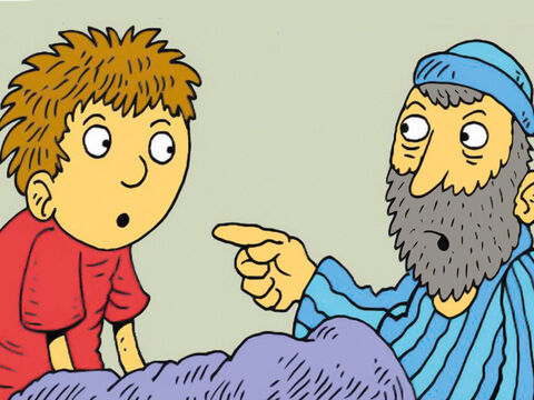 He heard his name again! Then Eli knew God was calling Samuel. 'Next time,' Eli said, 'say, I am listening and God will speak to you.' – Slide 7