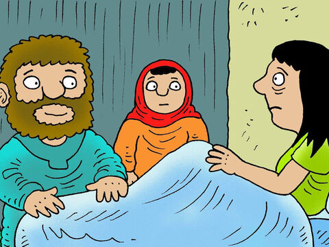 While Jesus was still in Capernaum, He went to Peter's house and found Peter's mother-in-law was sick in bed with a fever.  Jesus reached out and touched her hand. – Slide 6