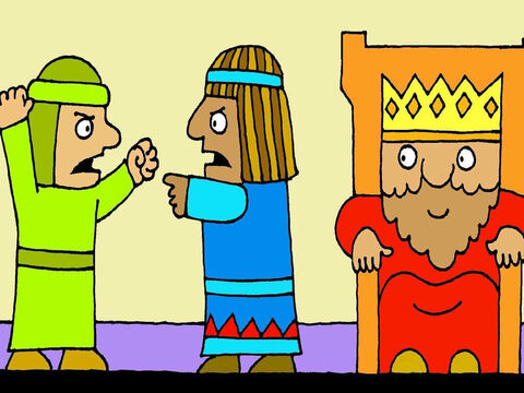 When people argued and each thought the other person was wrong, they would tell King Solomon and he always had an answer that was right, fair and wise. – Slide 4