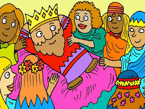 Then King Solomon stopped listening to God. He married many of the beautiful girls, but they prayed to idols and didn't know the one true God. Soon King Solomon forgot about God too. – Slide 8