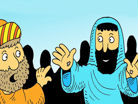 'Don't be frightened,' Jesus said, 'It really is me.' Thomas, touch my hands and see that I am alive.' – Slide 5