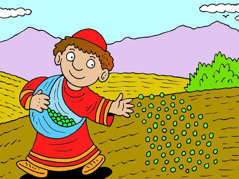 This Parable explains why God lets both good and evil exist in the world at the moment. Jesus said, 'The kingdom of heaven is like a farmer who sowed good seed in his field. – Slide 2