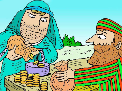 When he took money from people he took some money for himself. He was not kind. Nobody liked Zacchaeus. – Slide 2