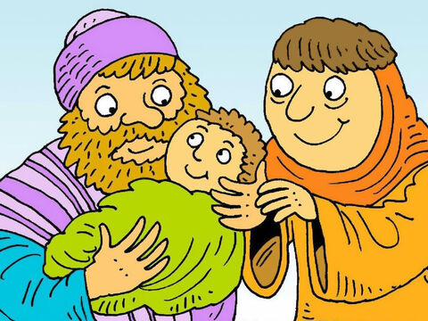 Baby John grew up to tell everyone to get ready for the coming of God's Son, Jesus, as the Saviour of the world. – Slide 8