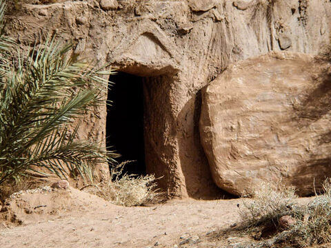 After Jesus was crucified, He rose from the dead. – Slide 2