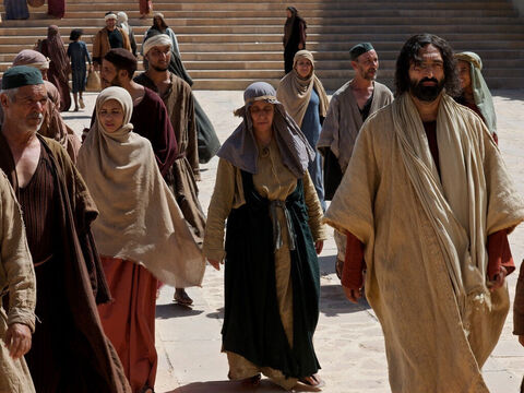 Jesus went into the temple courts and began teaching. – Slide 2