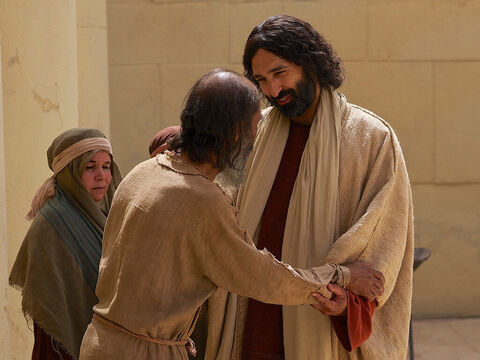 Later Jesus found him at the temple and said to him, 'See, you are well again. Stop sinning or something worse may happen to you.' – Slide 13