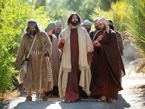 Jesus, His disciples and a large crowd were approaching the city of Jericho on their way to Jerusalem. – Slide 1