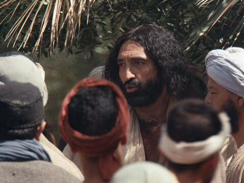 Jesus heard the cry of Bartimaeus and stopped.  'Call him,' He said to the crowd around Him. – Slide 6