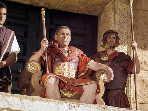 After Jesus was buried, the Chief Priests and Pharisees went to Pilate. – Slide 1