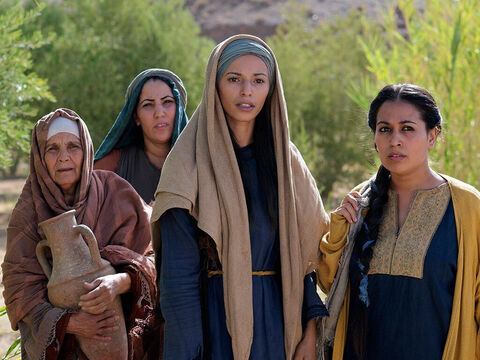 'Then today, some of our women amazed us. They went to the tomb early this morning but didn't find His body. – Slide 6