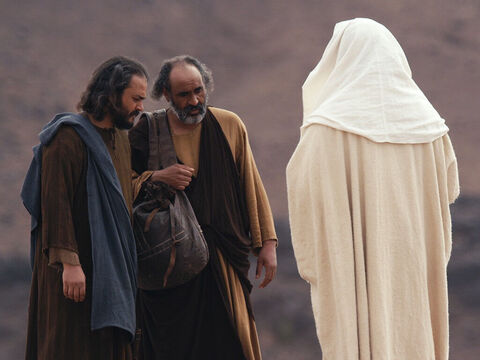 As they approached Emmaus, Jesus continued on as if He was going further. But they insisted, 'Stay with us, for it is nearly evening. The day is almost over.' So He went in to stay with them. – Slide 11
