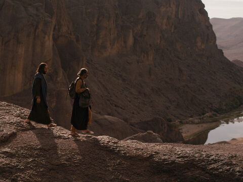They got up and returned immediately to Jerusalem. They found the eleven disciples and those with them, assembled together and saying, 'It is true! The Lord has risen and has appeared to Simon.' – Slide 16