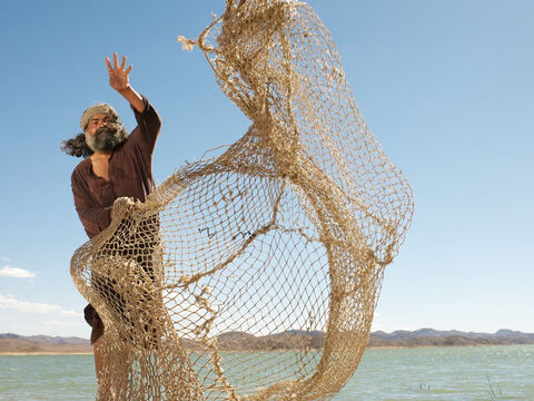 They both worked as fishermen and were casting a net into the lake. – Slide 3