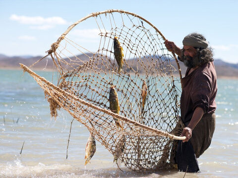 'Come, follow me,' Jesus said, 'and I will send you out to fish for people.' – Slide 4