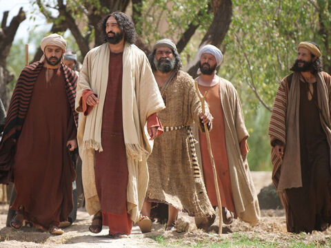 The four fishermen followed Jesus as He set off to tour Galilee, teaching in synagogues, proclaiming the good news of the kingdom of God, and healing people of every disease and sickness. – Slide 9