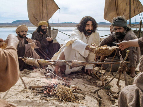 Roasting fish by an open fire was a common way to cook fish and used by Jesus after His resurrection to cook breakfast for the disciples (John 21:9). – Slide 23