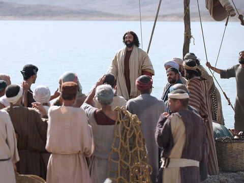After being on the other side of the Sea of Galilee in the region of Gerasenes, Jesus and His disciples sailed back to Capernaum. There was a large crowd waiting for Jesus. – Slide 1