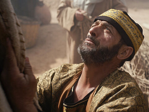 His name was Jairus, a leader of the synagogue in Capernaum. Jairus fell at his feet of Jesus and pleaded, 'My little daughter is dying. Please come and put your hands on her so that she will be healed and live.' – Slide 3