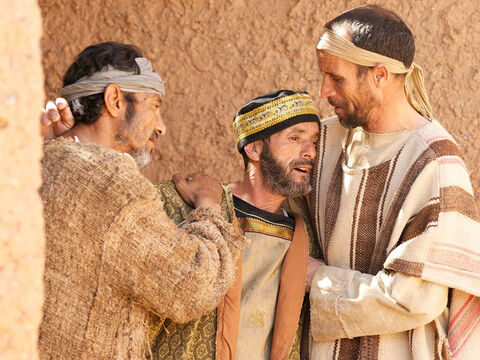 While Jesus was still speaking, some people came from the house of Jairus, the synagogue leader. 'Your daughter is dead,' they said. 'Why bother the teacher anymore?' – Slide 13