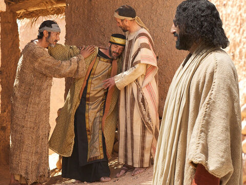 Hearing this, Jesus said to Jairus, 'Don't be afraid. Just believe, and she will be healed.' He walked with Jairus to his house forbidding everyone but Peter, James and John to follow them. – Slide 14