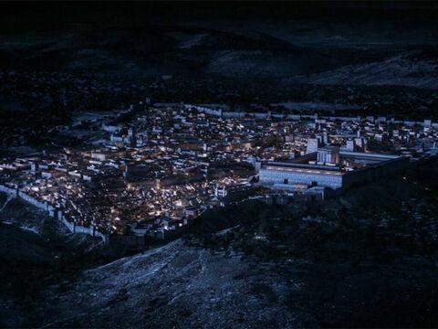 Jerusalem from the south-east at night. – Slide 9