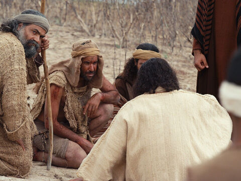 When they came to Jesus, they saw the wild untameable man sitting peacefully. He was dressed and in his right mind. – Slide 15