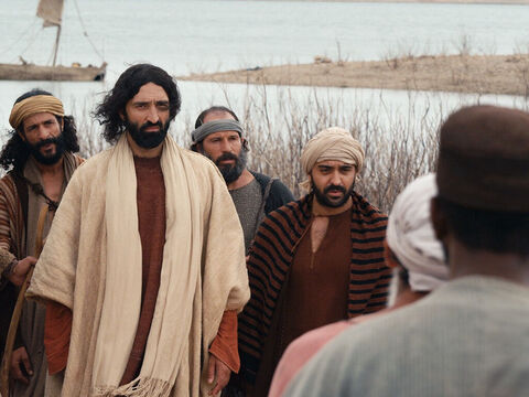 The local people were afraid and begged Jesus to leave the region. – Slide 16