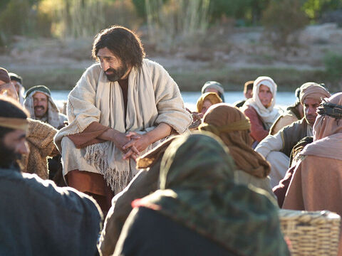 They included fishermen He had called to follow Him, and a tax collector. Sometimes the crowds became large. – Slide 2