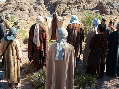 The next morning Jesus called the 12 men He wanted to be His disciples and apostles and they went up to Him. – Slide 5