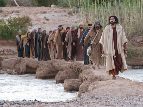 There had been 12 tribes that made up the nation of Israel and Jesus chose 12 disciples. All but Judas Iscariot would be His apostles and leaders of the early church. – Slide 21