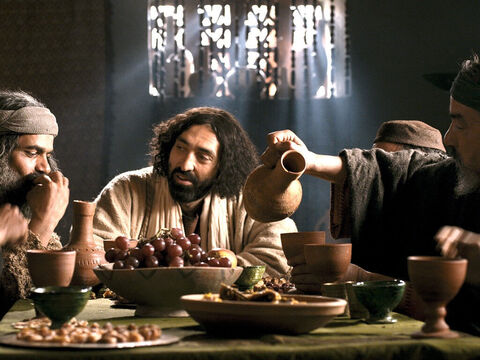 He invited Jesus and His disciples to his house to have a meal. He also invited his tax collecting friends and others in Capernaum who had a bad reputation to meet Jesus. – Slide 9