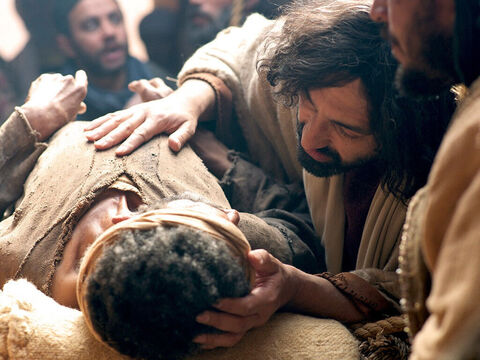 Jesus saw the faith of these men and their paralysed friend and announced, 'Friend, your sins are forgiven.' – Slide 12