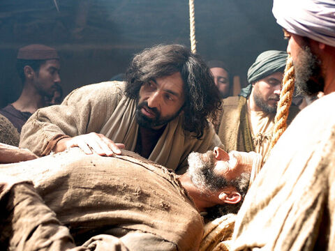 Jesus knew what they were thinking and asked, 'Why are you thinking these things? Which is easier: to say, 'Your sins are forgiven,' or to say, 'Get up and walk'? – Slide 15