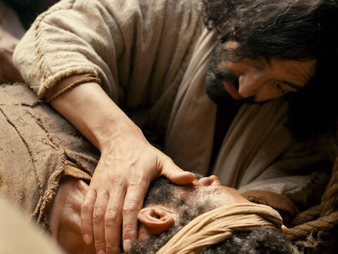 Turning to the paralysed man Jesus commanded, 'I tell you, get up, take your mat and go home.' – Slide 17