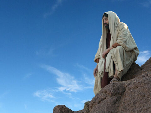 Next the devil took Jesus to the peak of a very high mountain and showed Him the nations of the world and all their glory. 'I'll give it all to you,' he said, 'if you will only kneel and worship me.' – Slide 8