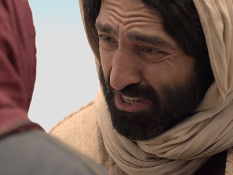 When Jesus saw her weeping, and the Jews who had come along with her also weeping, He was deeply moved in spirit and troubled. 'Where have you laid him?' He asked. 'Come and see, Lord,' they replied. – Slide 10