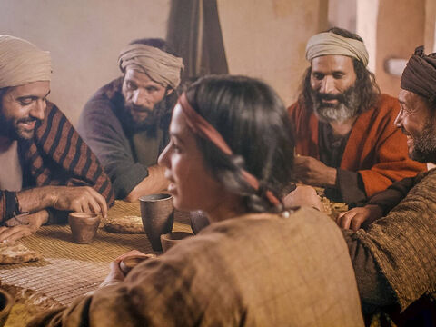 Among those eating at the meal was Lazarus, whom Jesus had raised from the dead. – Slide 16