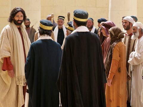The Pharisees objected, 'You testify about yourself  - your testimony is not true!' – Slide 3